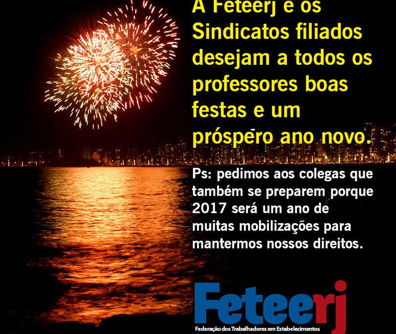 Veja o cartão de boas festas da Feteerj