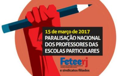 15/03: PARALISAÇÃO CONTRA AS REFORMAS DE TEMER